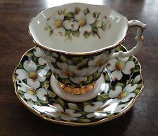 Royal Albert tea cup and saucer Provincial Flowers, Dogwood,