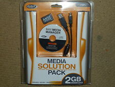 SONY PLAYSTATION PSP MAX MEDIA KIT 2GB MEMORY STICK DUO USB CABLE CD BRAND NEW!