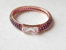 Turkish Rose Gold Plated 925 Sterling Silver Ruby TOPAZ Charming Ring Sz 6