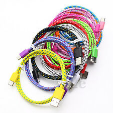 1M/3FT Strong Fabric Braided  USB-C USB 3.1 Type C Sync Data Charger Cable Lot