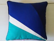 """$60 Happy Chic by Jonathan Adler Zoe 18"""" Square Decorator Pillow Blue NWT"""