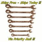Craftsman 7 Pc Reversible Lever Ratchet Combo Wrench Set SAE Inch Full Polished