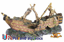 Aquarium Sail Ship Large Fish Tank Ornament 74cm