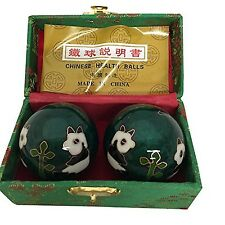 Baoding Balls Chinese health Massage Exercise Stress Balls - Green Panda #3