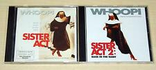 2 CD SET - SISTER ACT 1 & 2 SOUNDTRACK - OST - WHOOPIE GOLDBERG