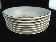 Crown Pottery Company Pattern 1249 Grey and White with Gold Bowls  7 TOTAL