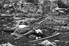 New 5x7 Civil War Photo: Confederate Dead in the Devils Den after Gettysburg