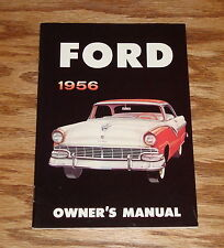 1956 Ford Owners Operators Manual Victoria Sunliner 56