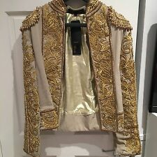 A Star Is Born - Nude Gold Embroidered Trophy Blazer Jacket - BNWT - Size 10