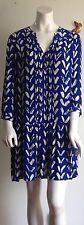 Maeve Anthropologie Blue-White  Tunic dress size L