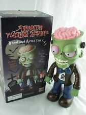 Animated Walking Fall Apart Zombie Halloween Light Up Creepy Sounds C Video NEW