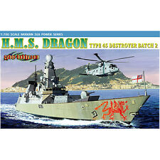 DRAGON 7109 HMS Dragon Type 45 Destroyer 1:700 Ship Model Kit