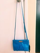 Marc by Marc Jacobs Marchive Percy Leather Crossbody Bag Dust Bag Blue Glow $228