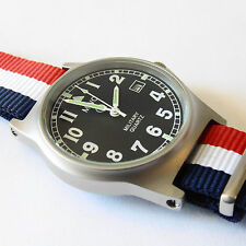 MWC G10 LM Military Watch French Strap, Date, 50m Water Resistance NEW BOXED