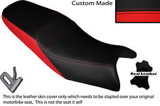 BRIGHT RED & BLACK CUSTOM FITS KEEWAY RKV 125 12-14 DUAL LEATHER SEAT COVER