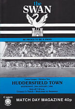 SWANSEA CITY v HUDDERSFIELD TOWN  83-84 LEAGUE MATCH