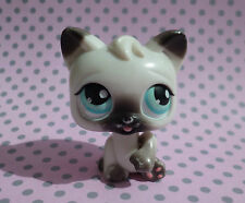 Littlest Pet Shop LPS Push n Play #1 Clean Myself Black and White Cat Kitten
