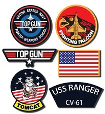 Maverick Top Gun Decal Set  -  Set of 6 Digitaly Printed Outdoor Stickers