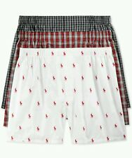 NEW Men's POLO RALPH LAUREN 3-pack cotton woven boxers, MEDIUM.