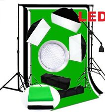 Pro Continuous LED Lighting Kit 3 x 144PCS 5500K LED boom Softbox backdrop kit