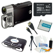 Sony HD Camcorder w/ Premium Audio - Music Video Recorder w/ 32GB Deluxe Bundle