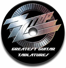 BEST OF 48 ZZ TOP ROCK GUITAR TABS TABLATURE SONG BOOK ANTHOLOGY SOFTWARE CD