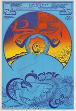 Hapshash and the Coloured Coat Tim Buckley Middle Earth Psychedelic Art Poster