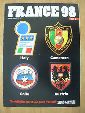 FOOTBALL WORLD CUP 1998 FRANCE 98 EXPRESS 2 - ITALY CAMEROON CHILE AUSTRIA