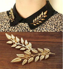 New Arrival 1 Pair Exquisite Fashion Leaf Collar Shirt Pin Brooch For Women