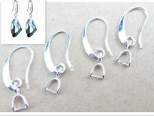20PCS Nice Jewelry Earring Findings Silver Plate Pinch Bail Hook Earwire