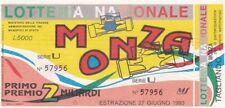 Biglietto lotteria Monza del 1993