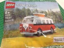 Lego VW Camper bus 1962 Volkswagen Mini Van 40079 Replica VW T1 Polybag Creator