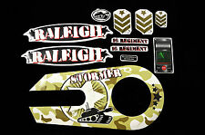 """DECAL SET FOR RALEIGH STORMER 16"""" ARMY CAMO TANK STICKER SUIT KIDS BIKE WTFRST16"""