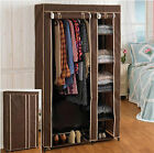 5 Shelves Brand New Easy to assemble Portable Wardrobe Large Space Storage Brown