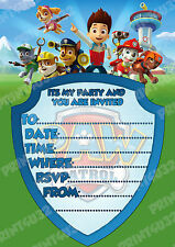 20 x Childs Party Invitations, Paw Patrol design, check my store for more items