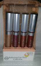 Set Of 4 Juice Beauty Reflecting Lip Gloss Champagne, Pink, Guava, Fig Organic