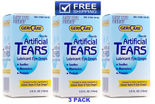 Artificial Tears Solution Sterile Lubricant Eye Drops 15ml -Comp to Visine Tears