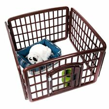 Outdoor Indoor 4-Panel Plastic Exercise Safe Play Pen Cat Dog Fence Pet Cage