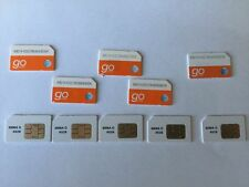 LOT OF 10 BRAND NEW PREPAID AT&T GO PHONE SIM CARD STANDARD SIZE 6006A