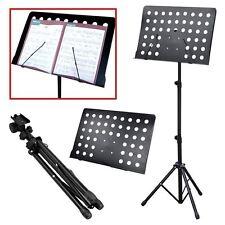 Profesional partituras orquestales Soporte Negro Plegable Soporte De Metal Ajustable Reino Unido