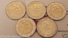 5 x 2 euro 2015 Germania Deutschland Allemagne 25 riunificazione tedesca berlin