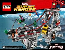 LEGO 76057 Spider-Man Web Warriors Bridge & everything else NO MINIFIGURES