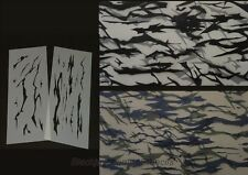 "Camo Military Tiger Stripe Kit 2 12x20"" Stencils,Templates, Camouflagel"