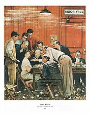 Norman Rockwell courtroom print: JURY ROOM or THE HOLDOUT barrister trial Lawyer