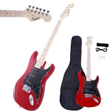 New Glarry ST 22 Frets Burning Fire Basswood Electric Guitar Kit W/Bag Red