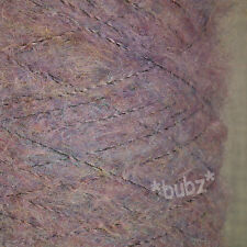 SUPER SOFT MOHAIR BLEND 4 PLY YARN LILAC HEATHER 500g CONE 10 BALL WOOL LAVENDER