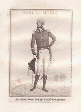 John Kay Original Antigua Grabado. el comandante en jefe, direccionamiento.., 1805