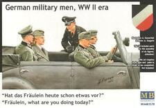 GERMAN MILITARY MEN & WOMAN (WEHRMACHT & SS OFFICERS / STAFF CAR CREW) MASTERBOX