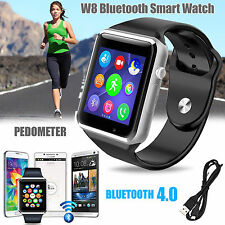 New W8 Bluetooth Smart Watch For Android Samsung HTC LG + Camera SIM Slot UK