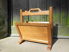 Vintage Robert Mouseman Thompson ~ Oak Magazine Rack ~ Arts & Crafts